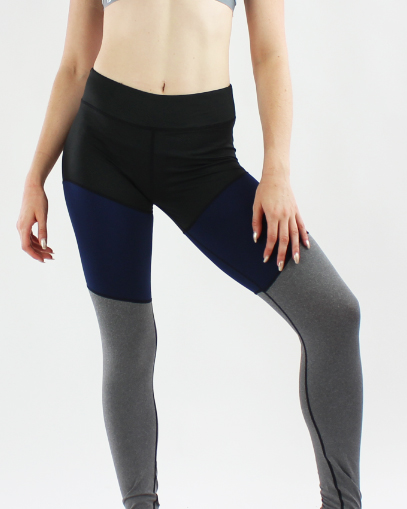 navy grey leggings fitgal